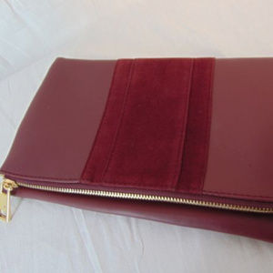 Summer & Rose Burgundy Foldover Clutch Purse